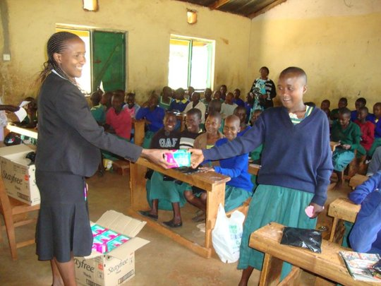 Provision of sanitary pads in collaboration with Plan-Kenya to girls early this year